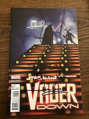 Star Wars: Vader Down #1 Comic Signed* By Mark Hamill And Dave Prowse