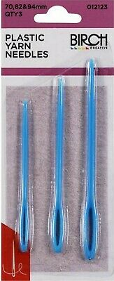 Plastic Yarn Needles - 3 pack - sizes are 70, 82 and 94 mm