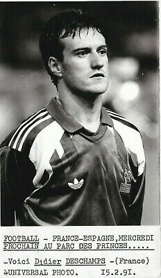 DIDIER DESCHAMPS 1991 Presse Tirage argentique FOOT FRANCE universal photo