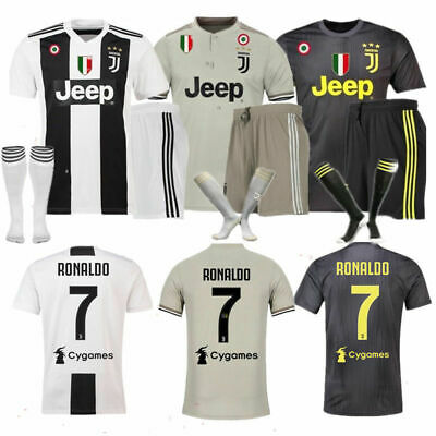quality design dff33 0900b RONALDO 7 FOOTBALL Kit Set Jersey Shorts Socks Kids New Soccer Boys Home  Away UK