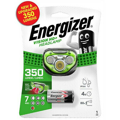 Energizer Vision HD+ Focus Headlight 3 AAA Energizer Max batteries 315lm bright