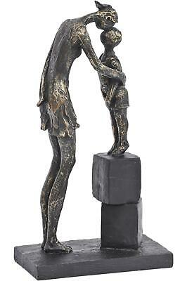 Antiqued Bronze Colour Mother & Child Sculpture Gift Art Figurine Ornament