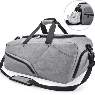 NUBILY Gym Bag Sports Duffle with Shoe Compartment Waterproof Large Travel. 8e99d96145acd