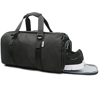 63d06980c5 Oflamn Sports Gym Bag with Shoe Compartment for Women   Men - Travel Duffel.