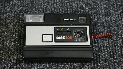 Vintage Halina Disc 108 Point and Shoot Compact Camera- UNTESTED with case