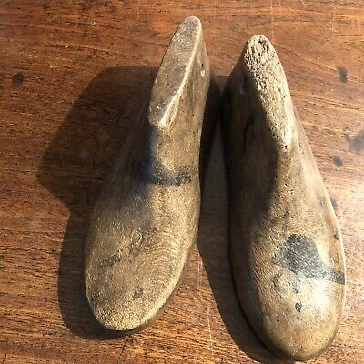 Pair of Antique Childrens Wooden Shoe Lasts