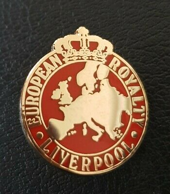 Liverpool European Royalty Pin Badge - All Red - Great Gift Idea