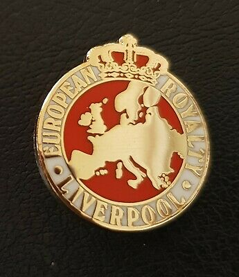 Liverpool European Royalty Pin Badge - White and Red - Great Gift Idea