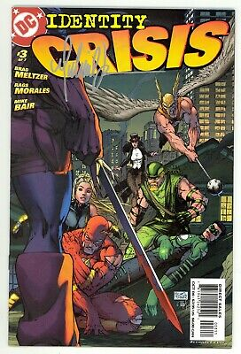 Identity Crisis (2004) #3 1st Print Cover Signed By Michael Turner No COA NM-