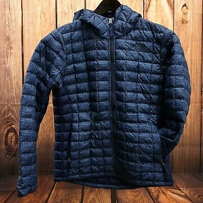 4f455b08e THE NORTH FACE Kids Boys Blue Thermoball Puffer Jacket Winter Ski Coat Sz  Large