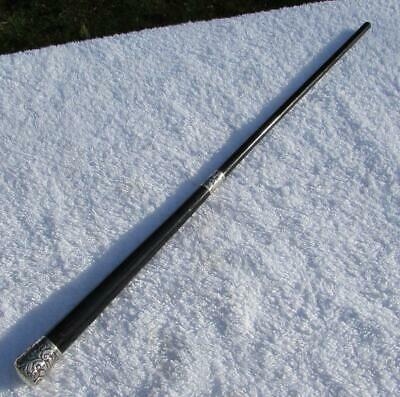 Antique Conductors Baton With chased Silver Top and Collar 1893 Hallmark