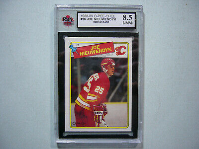 1988/89 O-Pee-Chee Nhl Hockey Card #16 Joe Nieuwendyk Rookie Ksa 8.5 Nm/mt+ Opc