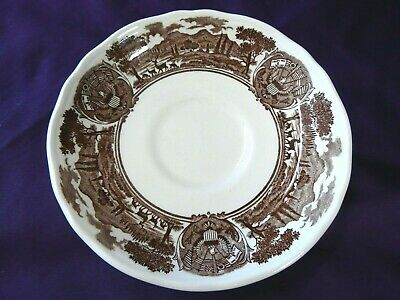 J & G Meakin England American Legend Pattern Brown Suacer Only