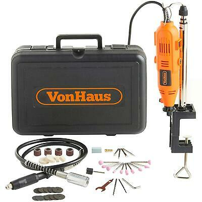 Vonhaus 135W Rotary Multi Tool With Stand, Flexi-Shaft And 40Pc Accessory Kit-