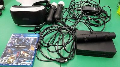 Sony Ps4 VR Headset w/ Processor, Game & Accessories