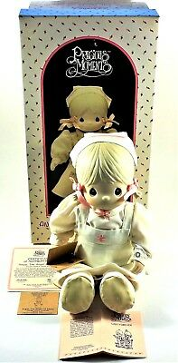"Precious Moments Angie The Angel Of Mercy Porcelain Doll 13"" w/ Cert, Tag & Box"