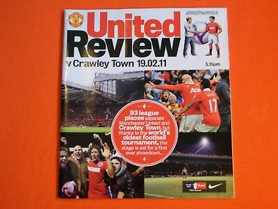 Manchester United v Crawley Town, FA Cup 5th Round  19th February 2011