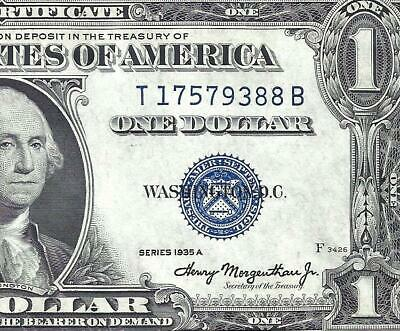 1935A $1 BLUE Seal SILVER Certificate! CRISP UNCIRCULATED! Old US Paper Money!