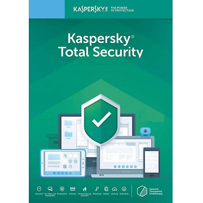 Kaspersky Total Security 2019 3 Devices 1 Year Key for Windows Mac Android & iOS