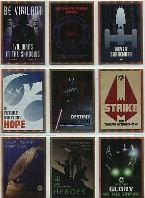 Star Wars Galaxy 2018 Complete 9 Card Chase Set Rogue One Propaganda