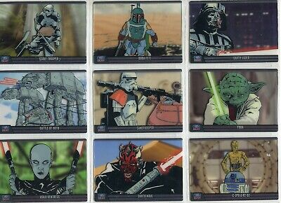 Star Wars Galaxy 7 Complete 9 Card Animation Cel Chase Set (Retail Exclusive)