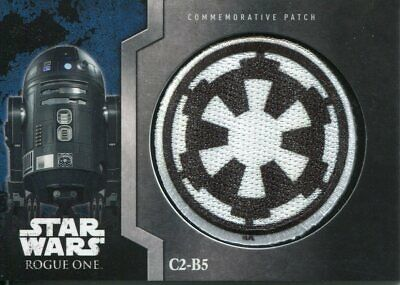 Star Wars Rogue One Mission Briefing Patch Relic Card MP13 C2-B5