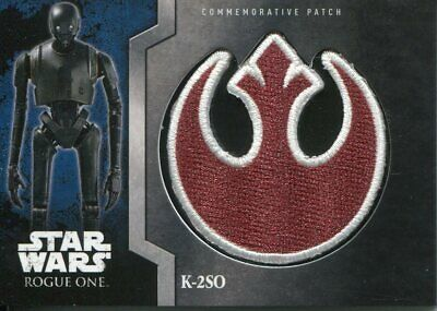 Star Wars Rogue One Mission Briefing Patch Relic Card MP2 K-2SO