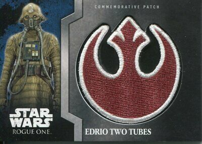 Star Wars Rogue One Mission Briefing Patch Relic Card MP9 Edrio Two Tubes