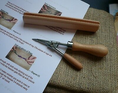 *RAG RUGGER KIt* 1 x Rag Rugger,1 x Rag Cutting Gauge,1mtr HESSIAN & Instruction