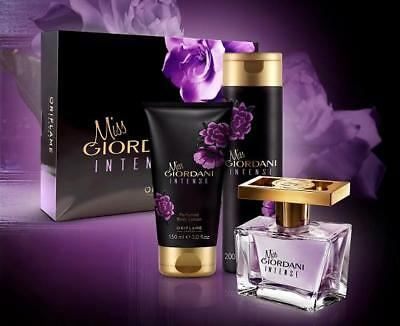 Oriflame Miss Giordani Intense Perfume 50ml Lotion Shower Cream Gift