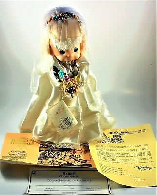 1993 Precious Moments Jessi Wedding Bride Doll & Stand #427 Excellent