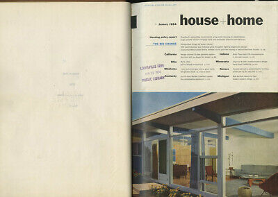 1954 Joseph Eichler HOUSE + HOME 3-vol. BOUND SET Frank Lloyd Wright Carl Koch