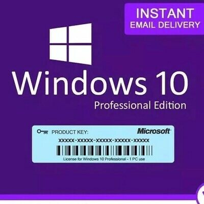 Genuine WINDOWS 10  PRO RETAIL LICENSE Instant Delivery