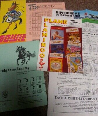 FOUR Different European & American Horse/Dog Racing Programs from the 1970's