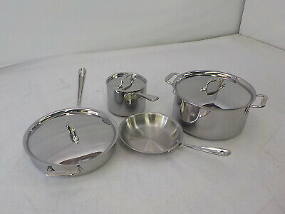 All-Clad 8400000962 - D3 Cookware Set, 7 Piece, Stainless Steel