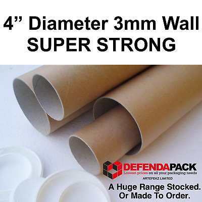 """14"""" 17.5"""" 20"""" 26"""" 28"""" 35"""" 41"""" 48"""" 59"""" 101mm 4"""" Wide 3mm Wall Postal Decals Tubes"""