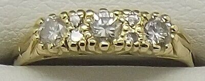 Solid 18Ct Yellow Gold Natural Diamond Engagement/Dress Ring Valued At $2078.00