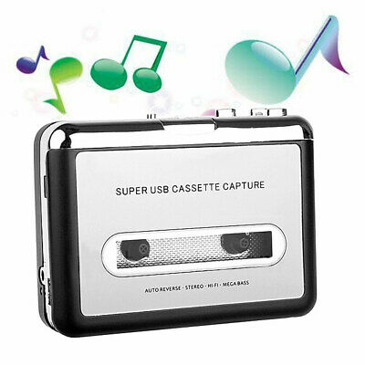 Portable Tape to Super Cassette Capture MP3 Player Converter With USB Cable OK