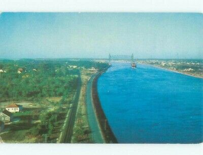 Pre-1980 HOUSES AND TRAIN TRACK BY THE CANAL Buzzards Bay In Bourne MA d4490