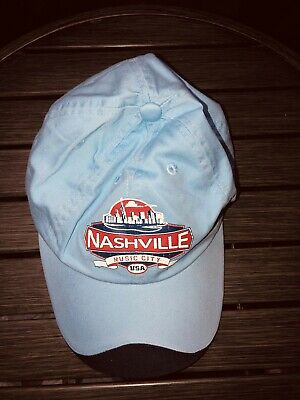 Nashville Music City USA PATCH Vintage Hat United State TN Tennessee !