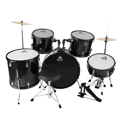 Full Size 22'' 5 Pieces Adults Drum Set Cymbal Kit with Stool Sticks Five Colour