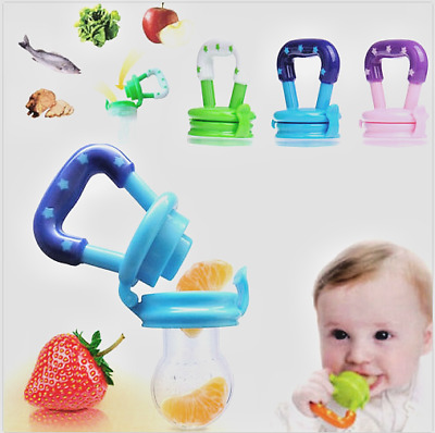 Baby Food Fruit Soft Nipple Feeder Safety Silicone Pacifier Feeding Tool Teether