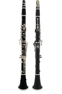 E02 17 Keys Bb Clarinet  Black Musical Instrument With Case Accessories O