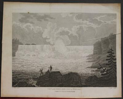 Niagara Falls United States & Canada 1798 Stockdale Antique Copper Engraved View
