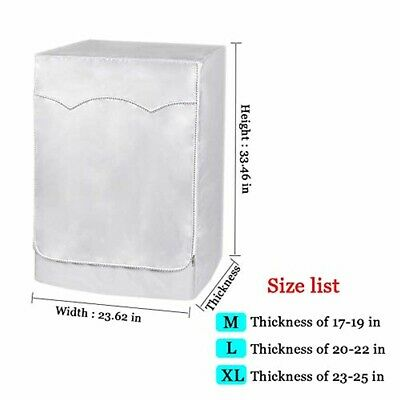 Washing Machine Cover Waterproof and Dust-proof Front Load Washer Dryer Cover