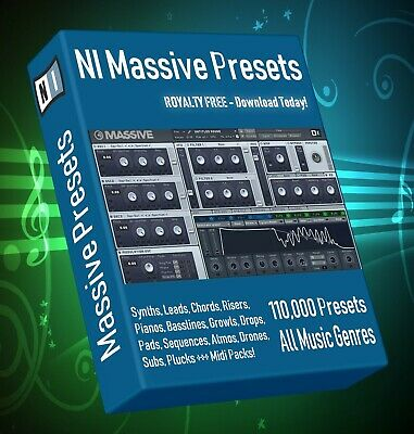 110,000+ NI Massive Synth Presets - LOGIC ABLETON FL STUDIO CUBASE REASON SONAR