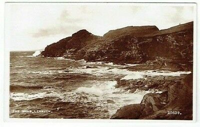 Old Postcard The Knab Lerwick Shetland Scotland Real Photo Vintage C.1950