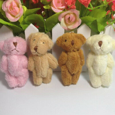5pcs Set Small Teddy Bear Plush Toys Fluffy Bear Dolls Soft Kids Baby Gift ~~Hot