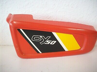Original Seitendeckel, Abdeckung links / Cover left Honda CY 50 rot