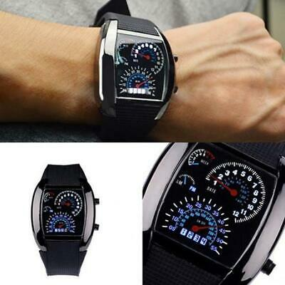 LED Watch Fashion Men Stainless Steel Luxury Sports Analog Quartz LED WristWatch